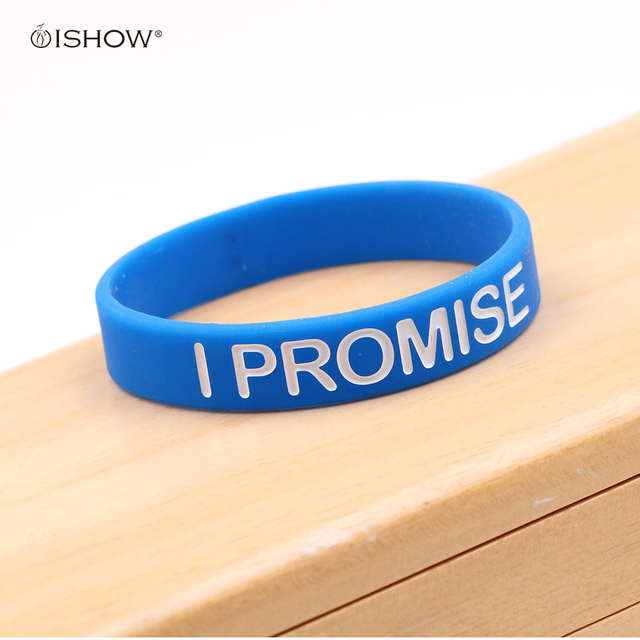 New I Promise Bracelet Basketball Sports Wristband Silicone Gym Fitness Bands Energy Bracelets For Man