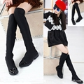 2017 Hot Parent-child long boots princess elegant girls shoes children's snow boots size 26-37 child ever after high boots TX78