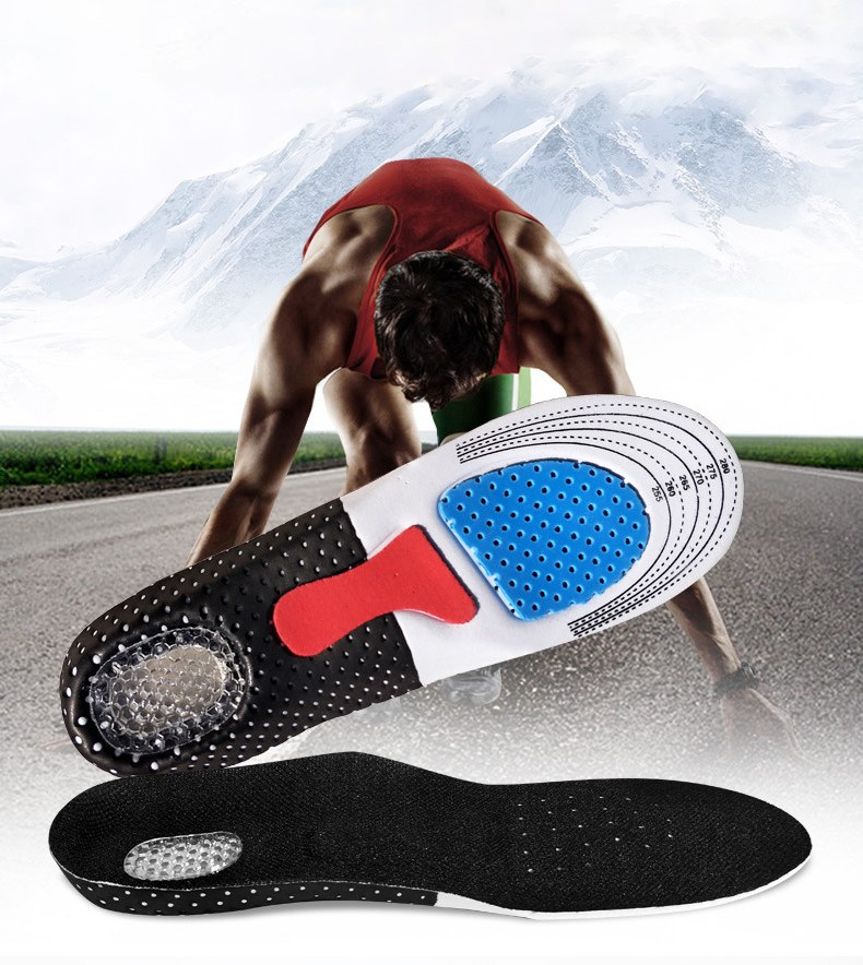 2019 NEW Silicone  Insoles Foot Care For Plantar Fasciitis Heel Spur  Running Sport Insoles Shock Absorption Pads  Soft  Insole