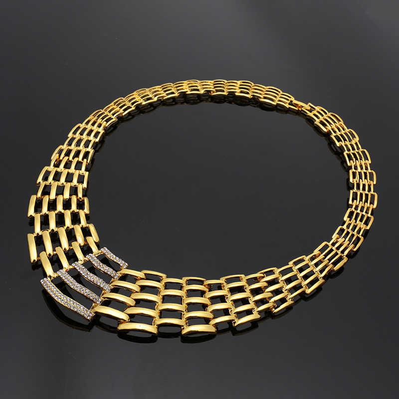 Fani Mode Afrikanische perlen schmuck-set Marke 2018 dubai gold bunte Schmuck-Set frauen kunden nigerian braut perle set