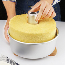Chiffon Cake Tin Mold 6 Inch Metal Anodized Aluminum Round with Removable Bottom Cheese Cake Baking Pan Cake Tool Bakeware