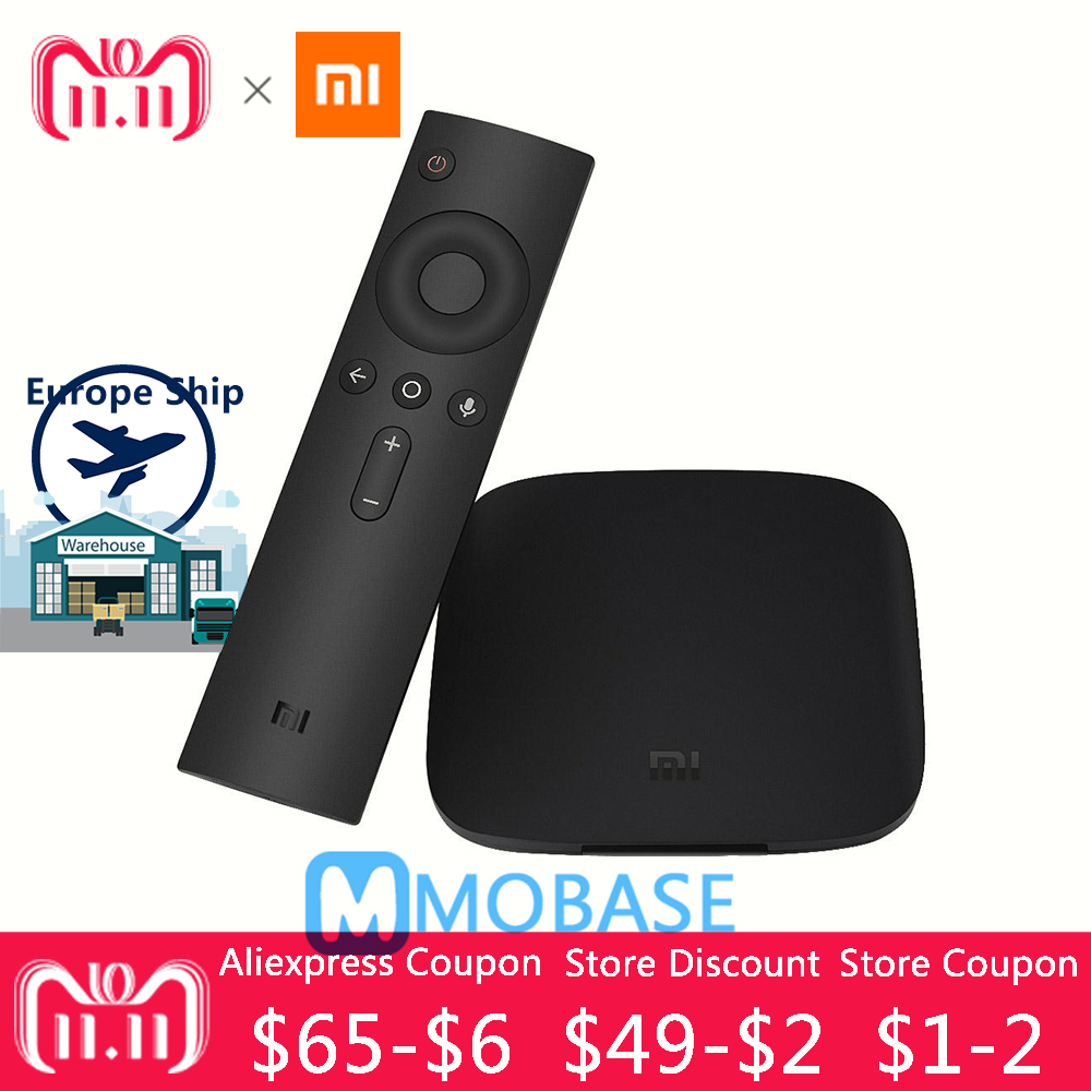 Xiaomi Mi BOX 3 TV BOX 4K HD 2G 8G Android TV BOX Set-top Box WIFI Remote control With Google Cast Netflix Red Bull Media Player original xiaomi mi tv box 3 smart 4k quad core hd 2g 8g android 6 0 wifi google cast netflix red bull media player set top box