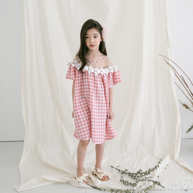 Teenager girls dress 9 10 12 14 Years kids dresses plaid summer baby girls clothes cotton children vestidos casual girl dress girls dresses baby girl long sleeve dress new autumn cotton denim dress for girls children costumes vestidos kids clothes