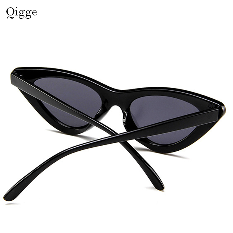 Qigge Lovely Cat Eye Retro Cat Eye Sunglasses Mujeres 2018 Triangle - Accesorios para la ropa - foto 5
