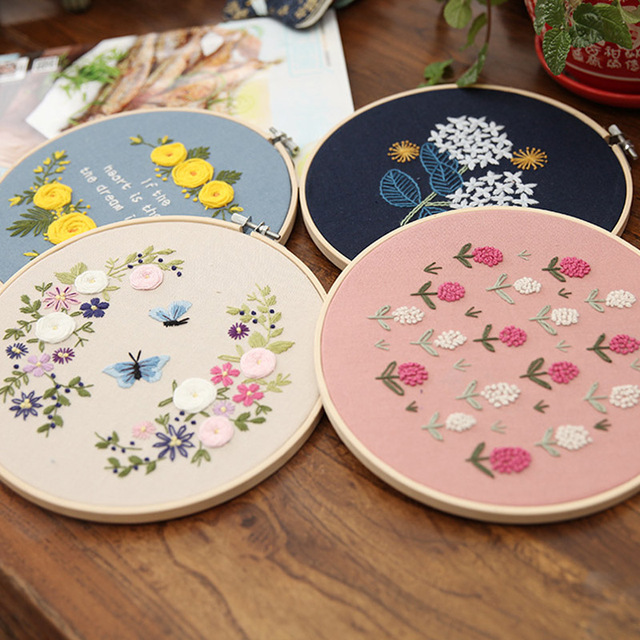 Diy 3d Embroidery Flower Cross Stitch Kits Hand Embroidery