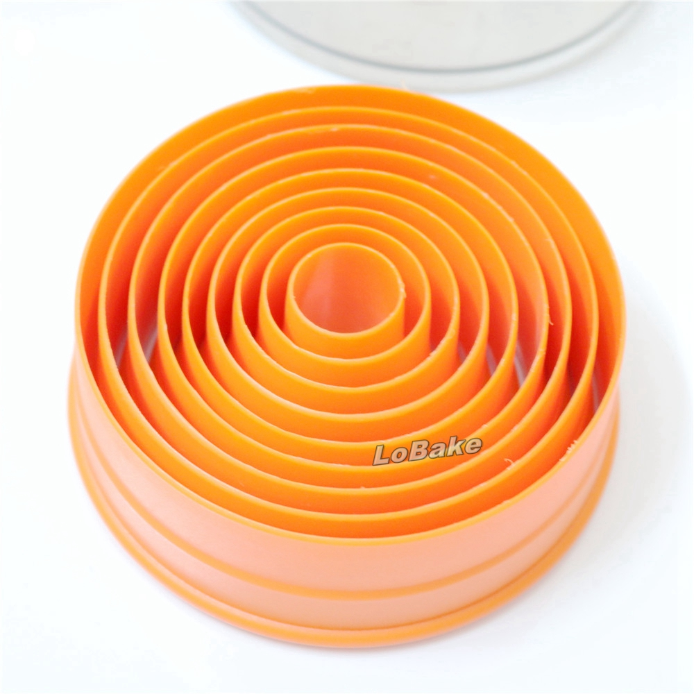 Plat Bord Rond Cercle Forme PP plastique fondant biscuit pâte Cutter Mold