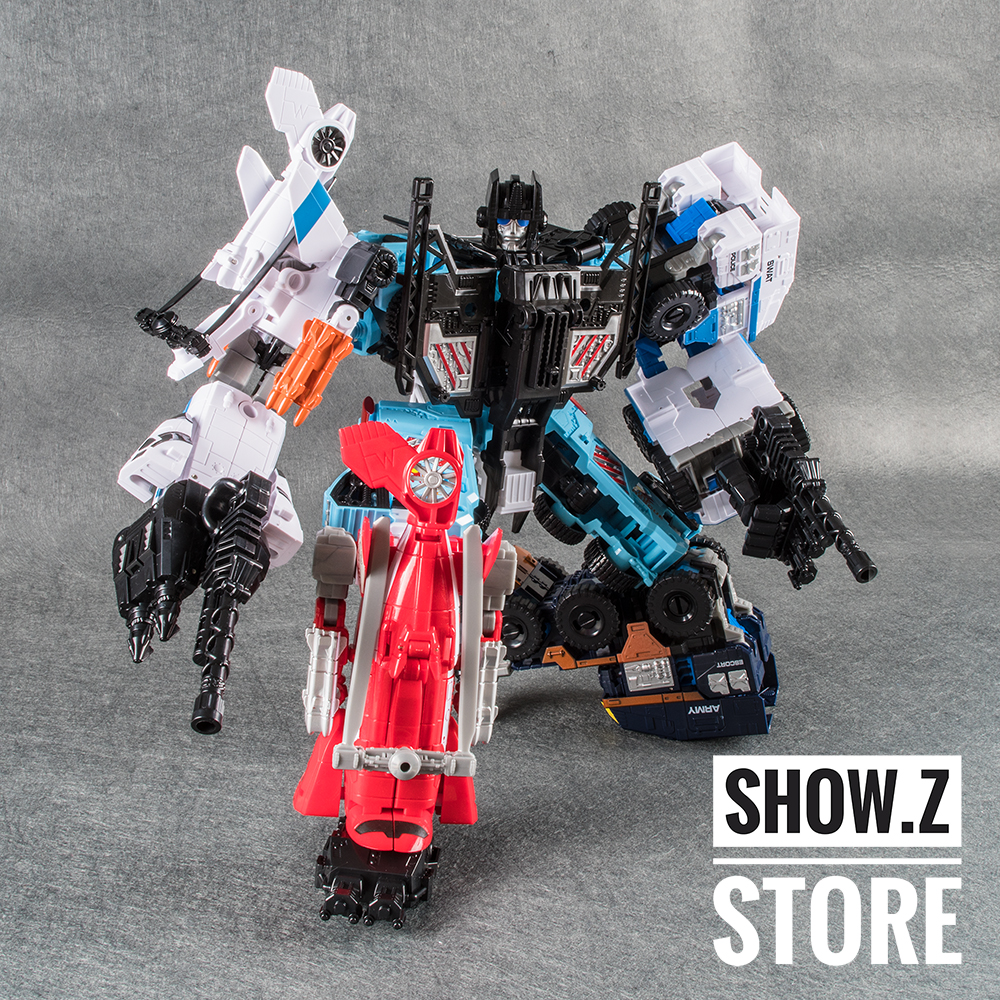 [Show.Z Store]  Weijiang Defensor Giant War Combiner Metal Parts Action Figures No Box transformation managing the store