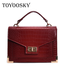 TOYOOSKY Bolsa Mujer Bags For Women 2019 Luxury Handbags Women Bags Designer Crocodile Pattern Leather Shoulder Messenger Bag все цены