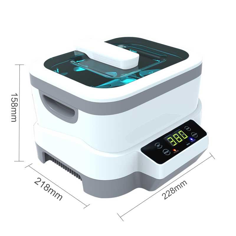 1200 ml Digitale Ultrasone Reiniger 60 w Split Ultrasone Reiniging Machine Professionele Reiniger Sieraden Horloges Wassen Apparatuur - 4