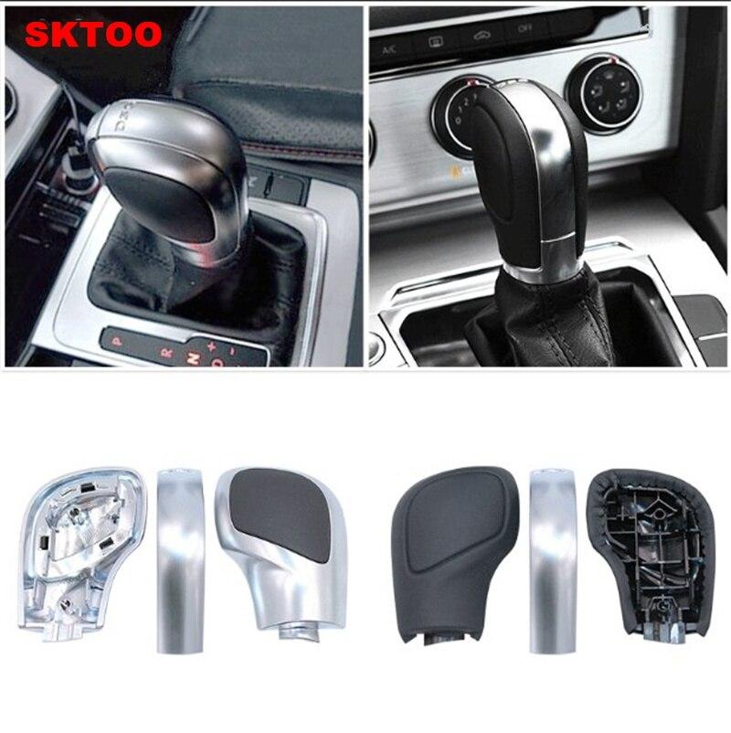 Аксессуары для головки шестерни DSG, рукоятка рычага переключения передач, матовый и блестящий наконечник DSG для Volkswagen GTI Magotan B7 B8 CC Golf 6 7