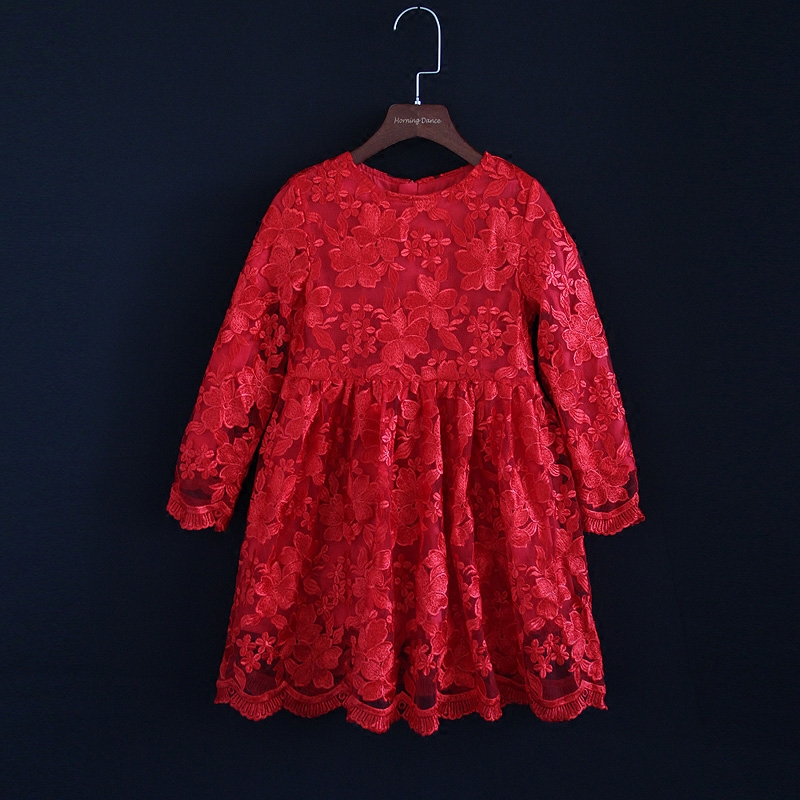 Autumn Winter mom girls embroidery lace dress family clothing children fashion party dress matching mother daughter formal dress checcivan family mom daughter short t shirt 2017 autumn mother