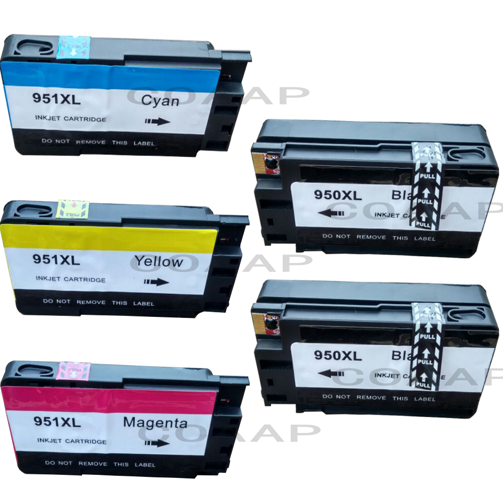 Vervangende 5PK-inktcartridge voor HP 950 951 XL Officejet Pro 8620 - Office-elektronica