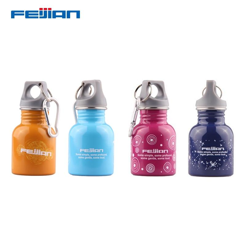 Feijian 130ml cute stainless steel kids sport water bottle bpa free Leak-Proof Seal protein shaker drinking milk school