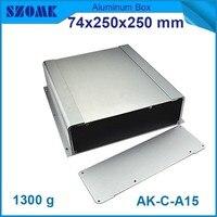 4 unids/lote szomk de aluminio 60x215mm budista suministros de cerramientos de aluminio extruido recinto amplificador