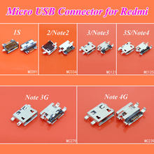 cltgxdd 1PCS Micro USB Jack Socket Connector Port for Xiaomi Redmi 1s 2 3 3s Charging Plug for Hongmi note 2 3 4 3G 4G(China)