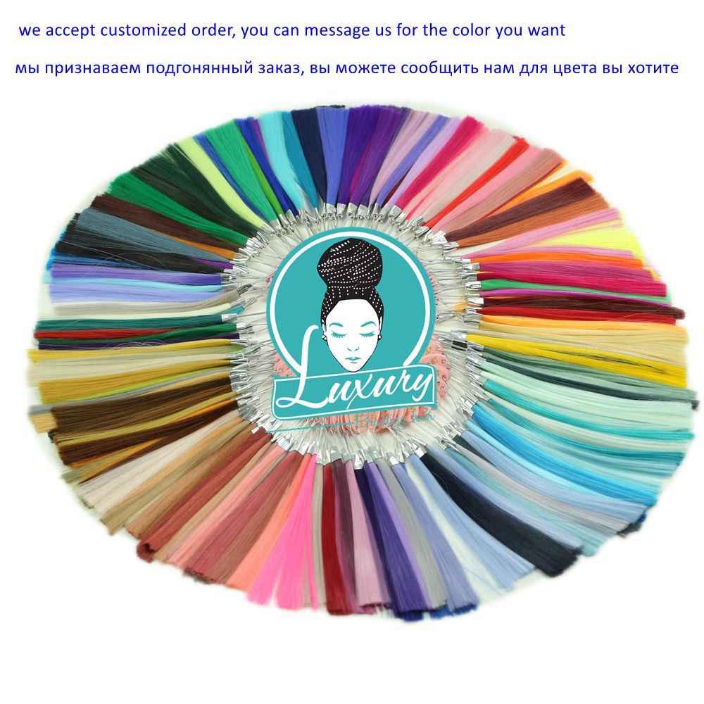 """Роскошные 1 упаковка 24 """"60 см в сложенном виде 80 г темно-синий неоновый оливковый зеленый Лавандовое сиреневое винтажное розовое синтетические широкие плетеные волосы"""