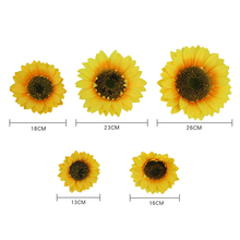 10pcs/set Artificial Sunflower Heads Silk Real Touch Fake Flowers for Wedding Decoration Home Party Garden Decor Floral