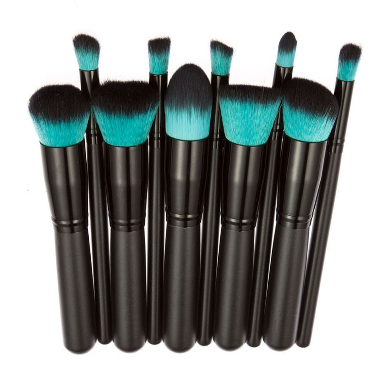 10Pcs Professional Make Up Brushes Tools Toiletry Kit Makeup Brush Set Powder Foundation Brush Eyebrow Eyeshadow Cosmetic new lcbox professional 16 pcs makeup brush set kit pouch bag cosmetic brush kit cosmetic powder foundation eyeshadow brush tools