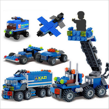 KAZI 6409 City Transport Dumper Truck Model Building Blocks Enlighten DIY Figure Toys For Children gift