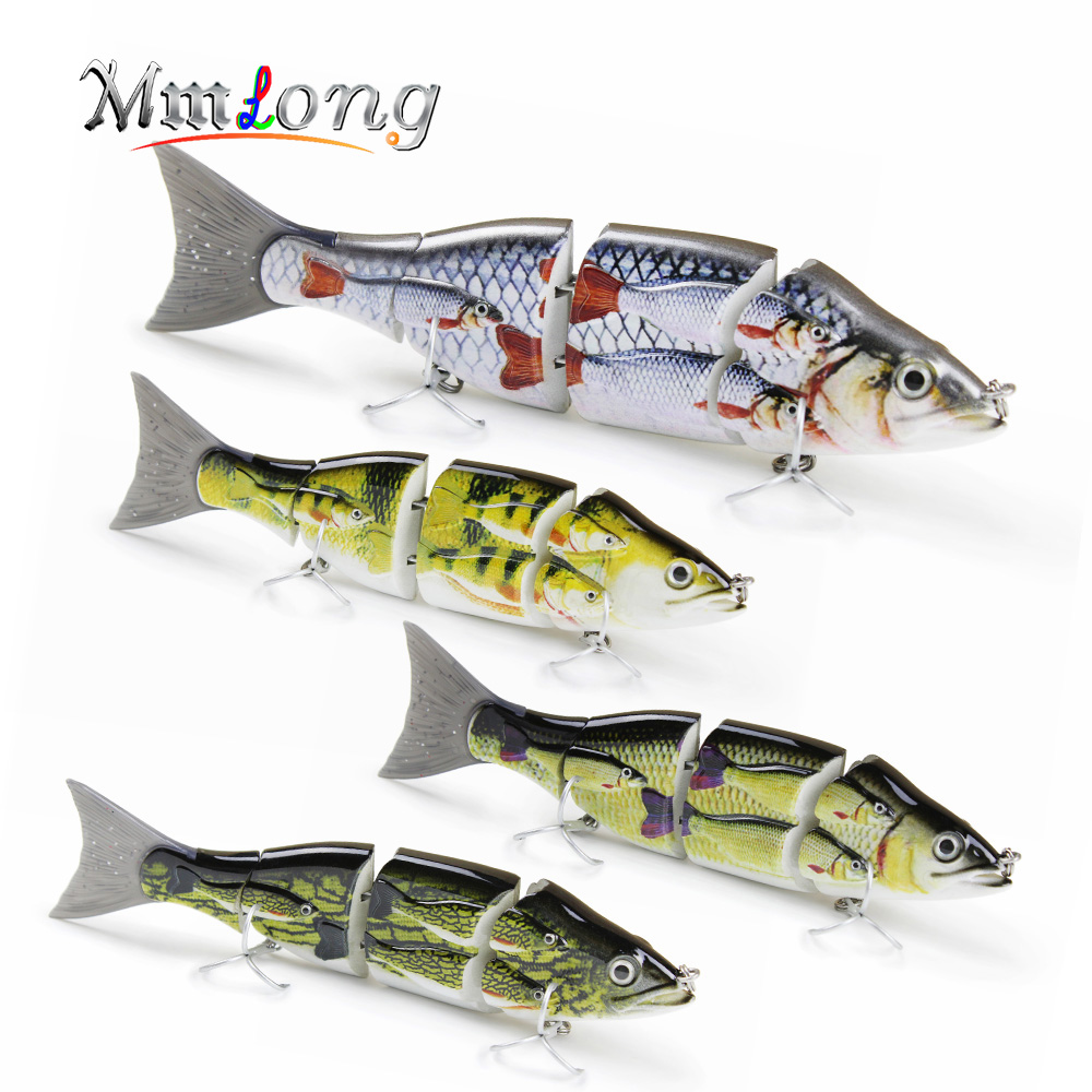 Mmlong 15cm Patent Special Group Fsih Fishing <font><b>lure</b></font> 4 Parts Strong Metal Jointed Swimbait 52g Artificial Crankbait Fishing <font><b>Lures</b></font>