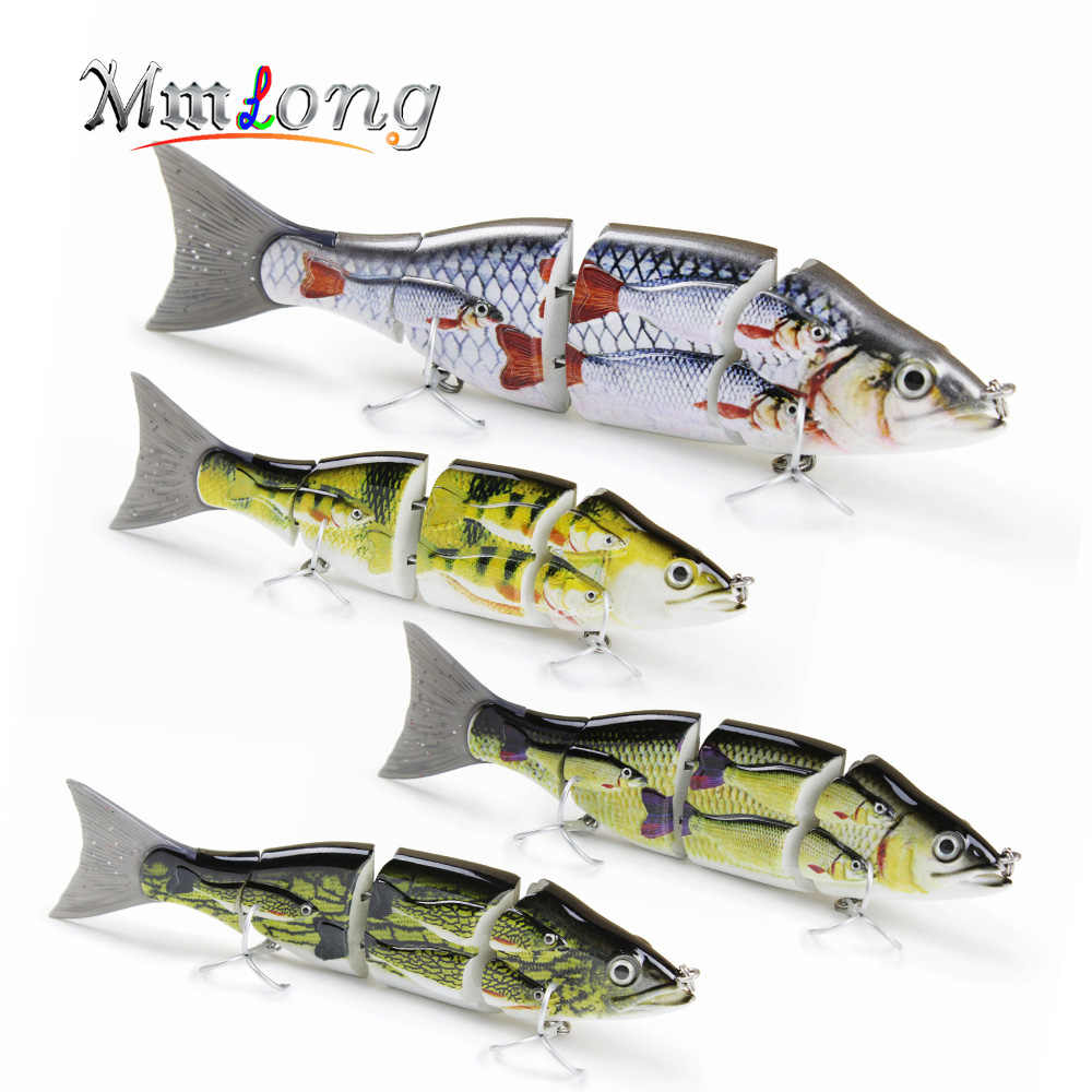 Mmlong 15cm Patent Special Group Fsih Fishing lure 4 Parts Strong Metal  Jointed Swimbait 52g Artificial Crankbait Fishing Lures
