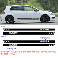 free shipping 2PC cool Racing Styling accent vinyl graphic striping decal for Volkswagen Golf 2016 on