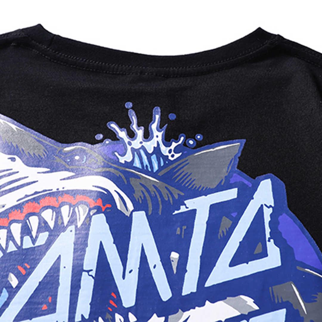Aelfric Eden 2019 Shark Gedrukt Nieuwe Mode Harajuku Mannen T-shirts Katoen Creative Streetwear T-shirt Zomer Korte Mouw Tees