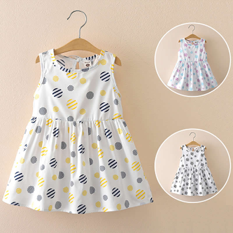 Baby Girls Dress Summer Costume for Kids Clothing 2018 Children Party Dresses Girls Clothes Princess Dress Sleeveless Circles 2016 summer style children baby girls dress princess clothing kids sleeveless casual party dresses