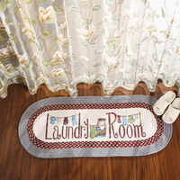 Pastoral Syle Laundry Room Floor Mat Anti-Slip Welcome Door Mat Bedroom/Kitchen Rugs Balcony Foot Mat 50*120cm