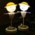 Bateria recarregável usb tabela desk luz ao lado de torção flexíveis novelty bebê quarto luz da noite levou sensor de vibração espantalho