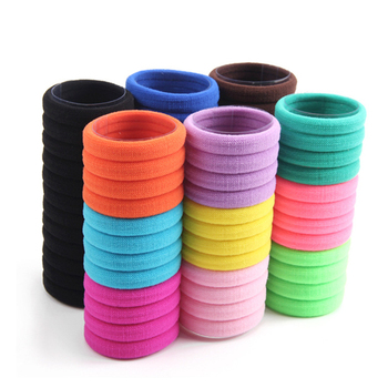 10 Pcs/Pack Multicolor Elastic Hair Bands Girls Ponytail Headdress Kids Solid Hair Rope Headwear Hairbands D0243