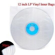 """50 шт. 1"""" виниловая пластмассовая пленка для записи LP, антистатические пластмассовые пакеты для записи, внешняя внутренняя пластиковая прозрачная крышка, контейнер"""