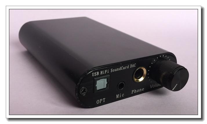 Mini USB HiFi Sound Card DAC TDA1387 Audio Decoding Headphone Amplifier DTS AC3