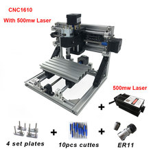 CNC1610 Diy Mini Laser Engraving Machine Cutting Tools ER11 GRBL 500mw Wood Routers Carving Machine Laser Cutting Router Machine 500mw mini laser engraving cutting machine diy art cutting engraving diy marking machine laser engrave machine cutting machine