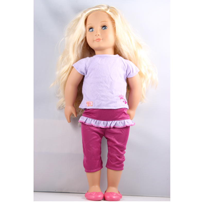 "ФОТО gold hair 18"" inch american girl doll our generation doll with clothes and shoes express  free shpping agd26"