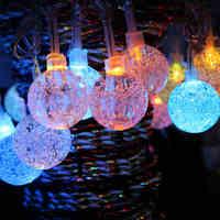 10M 50LED String Light Crystal Balls Bulb Outdoor Home Curtain Lamp Decorative Lights Christmas Wedding Decoration