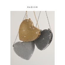 RADISH Luxury Diamond Evening Bags Classic Rhinestone Day Clutch Super Mini Handbag For Wedding Bag