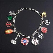 Cosplay American Cartoon Super Hero Personal Weapon Metal Bracelet Captain America Thor Iron Man Accessories  men and women