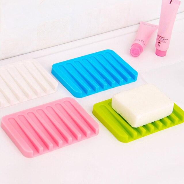 Silikonowy elastyczny mydelniczka kreatywny elastyczne mydelniczka akcesoria łazienkowe przechowywania mydło gadżet kuchenny płyta taca narzędzia