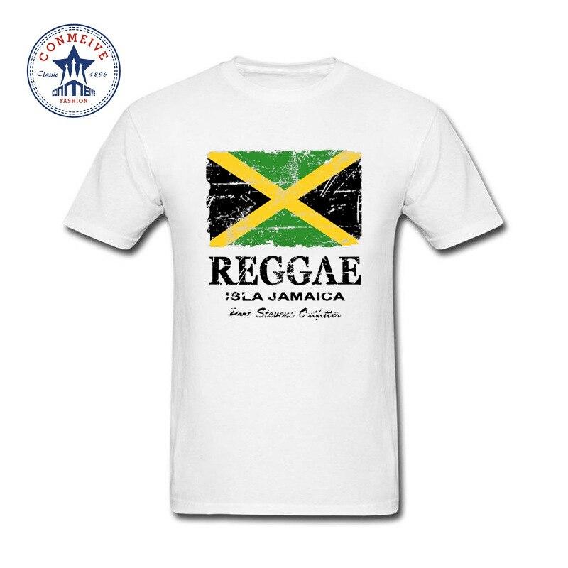Meilleur Cadeau Pour Ami Reggae Jamaïque Drapeau Coton T Chemise pour hommes