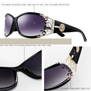 Image 4 - PARZIN gafas de sol polarizadas para mujer, anteojos de sol femeninos de lujo, estilo Vintage, color negro, con embalaje PZ18