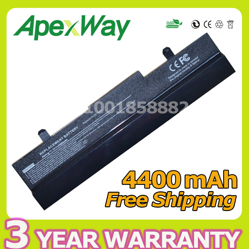 Apexway laptop battery 4400mAh for Asus Eee PC 1001P 1001PX 1005PX 1005 1005P 1005HA AL31-1005 AL32-1005 ML32-1005 ML31-1005