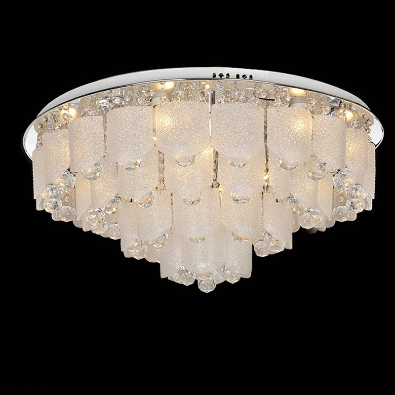 Luxury Modern Crystal Living Room Ceiling Light Round Top Plate Study Room Ceiling Lamp Restaurant Hotel Lobby Ceiling FixtureLuxury Modern Crystal Living Room Ceiling Light Round Top Plate Study Room Ceiling Lamp Restaurant Hotel Lobby Ceiling Fixture