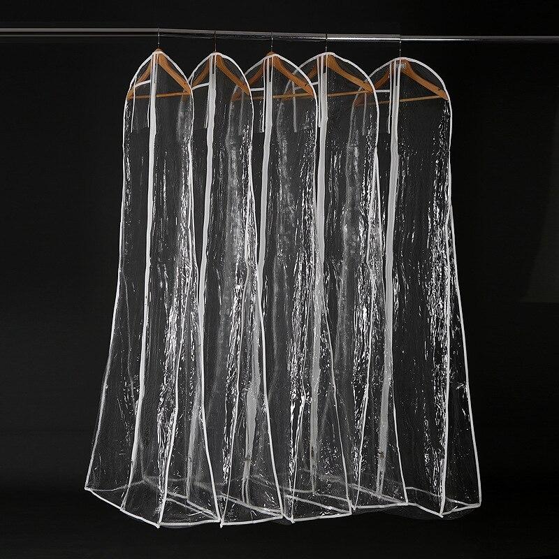 Transparent Wedding Dress Dust Cover Omniseal Extra Large Waterproof PVC Solid Wedding Garment Storage Bag Size
