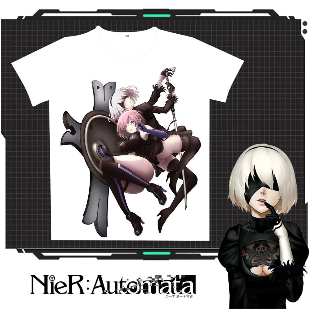 New Nier: T-shirt Rastesishme Automata 2B Burra Verore Gratë e - Veshje për meshkuj - Foto 3