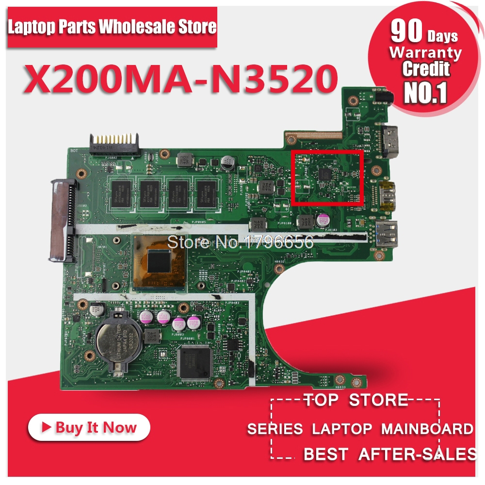 Free shipping Original laptop Laptop motherboard FOR ASUS X200MA K200MA F200MA mainboard With N3520 CPU 2G Integrated fully test диск replay ki47 6x16 5x114 et51 0 sil