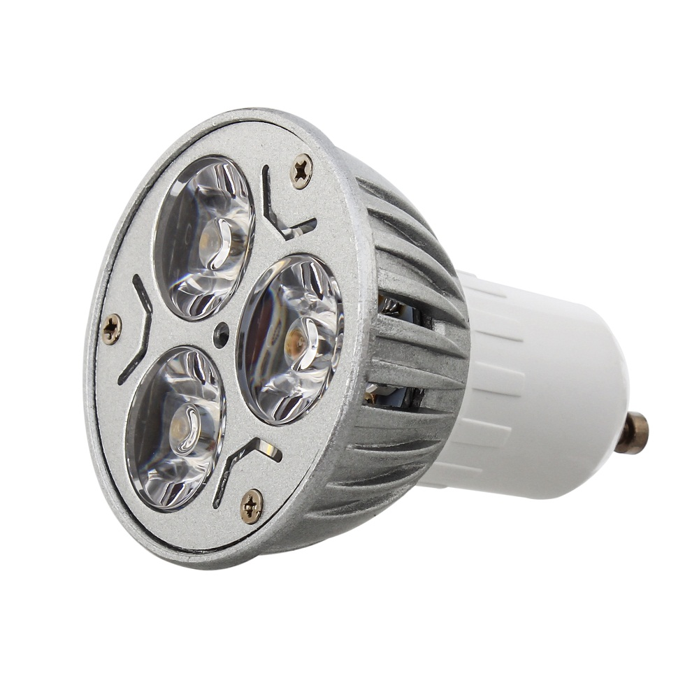 Wholesale 1PCS Led Lamp 3W GU10 Led spot Light High power Spotlight led bulb Cold warm white