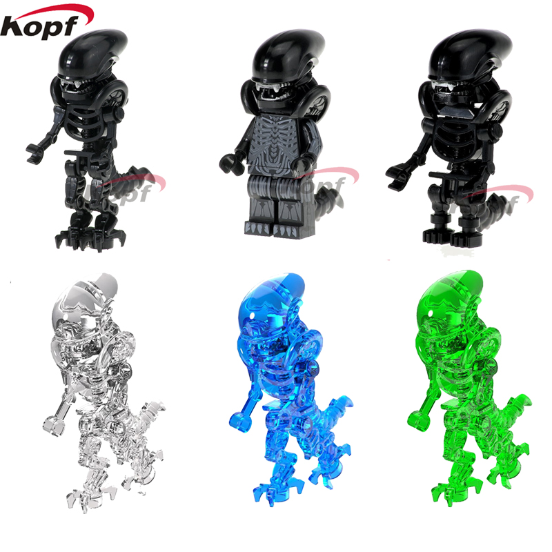 Super Heroes Single Sale One-Eyed Halloween Crystal Cyclops Green Skeleton Skull Alien Omino Building Blocks For Children Toys airsoft adults cs field game skeleton warrior skull paintball mask