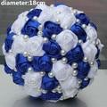Новое Прибытие Большая Скидка НОВЫЙ Королевский Белый Цвет Жемчуг Бисером Свадебные Букеты Холдинг Свадебный Букет Тайме Мяч с Цветами в Руках