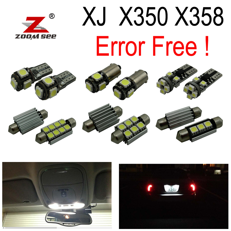 28pc x Canbus LED Reverse lamp Interior dome Lights Kit For Jaguar XJ X350 X358 XJ6